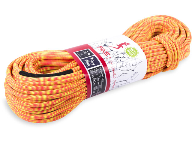 Fixe Shark Dry Rope 9,8mm x 80m, neon orange/neon yellow